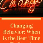 Changing Behavior