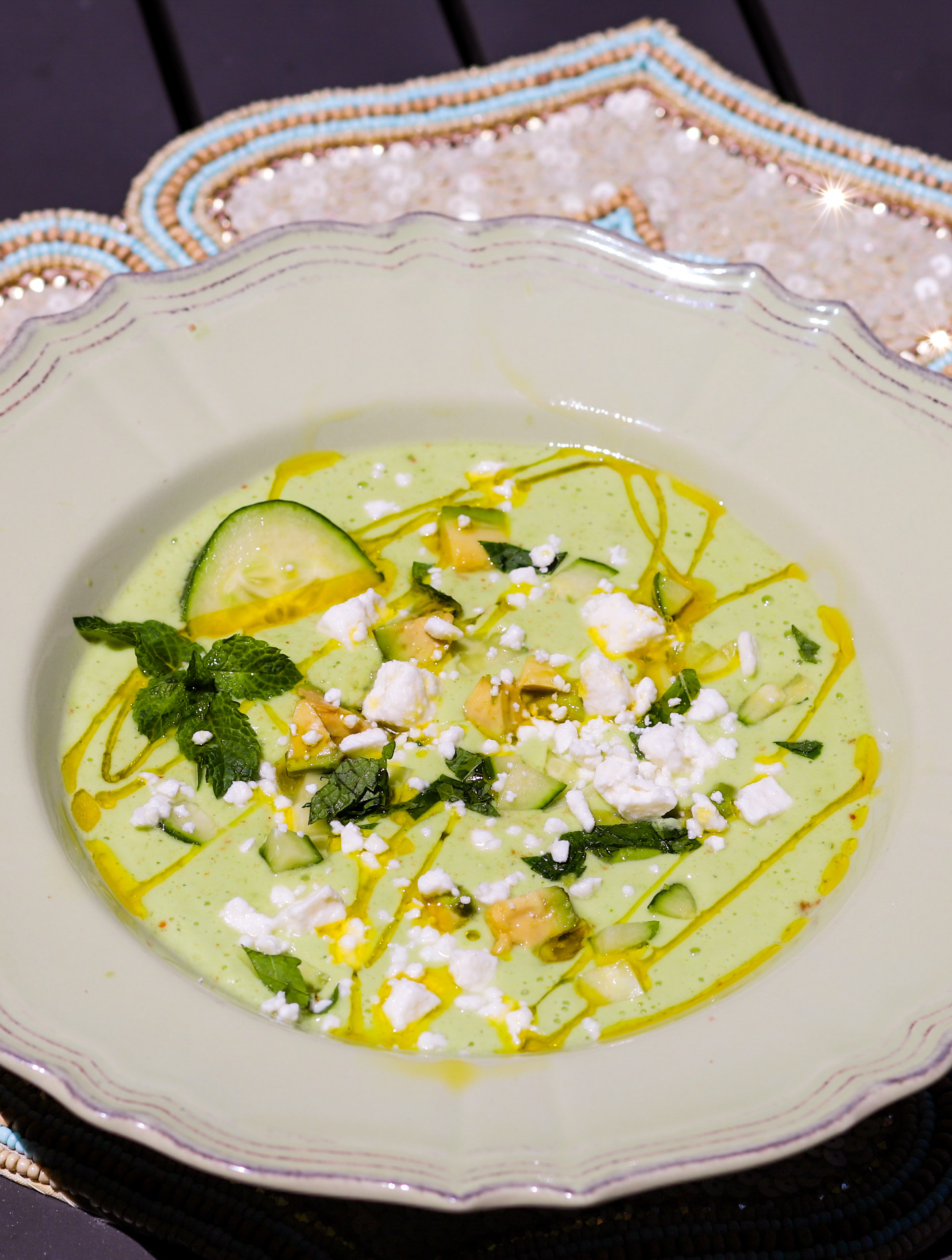 Chilled Cucumber Feta Soup