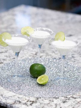 Keto Coconut Lime Martini Mocktail