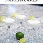 Keto Coconut Lime Martini Mocktail or Cocktail
