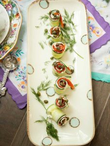 Cucumber Salmon Roll-Ups Appetizer