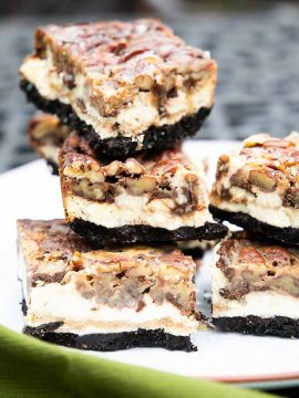 Keto Pecan Pie Cheesecake Bars
