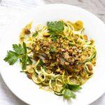 Pistachio Encrusted Cod With Thai Coconut Sauce – Keto Low Carb Recipe